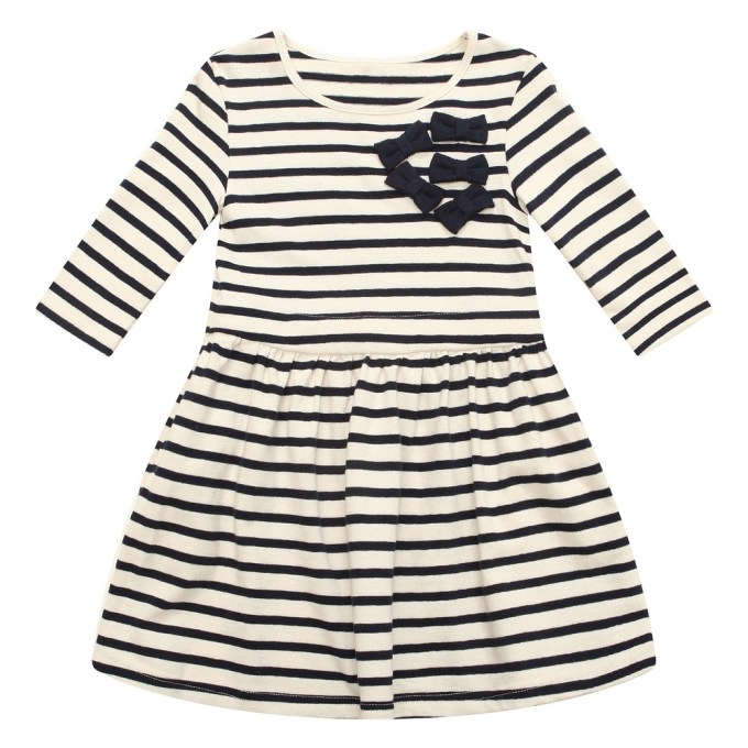 Striped Knit Dress with Matching Bows