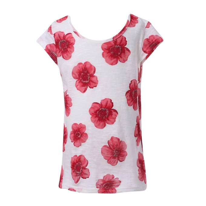 Short Sleeve T-shirt with Flowers