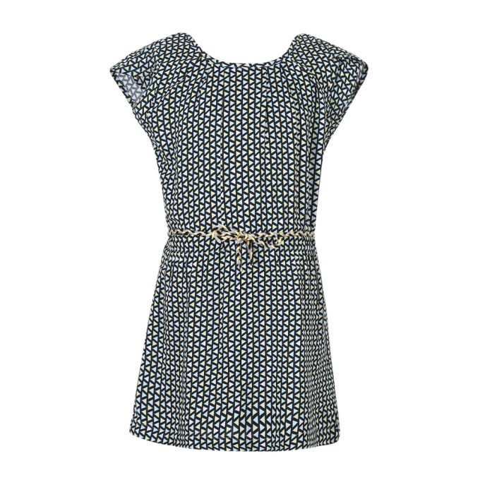 Simple and Leisure Print Dress with Belt