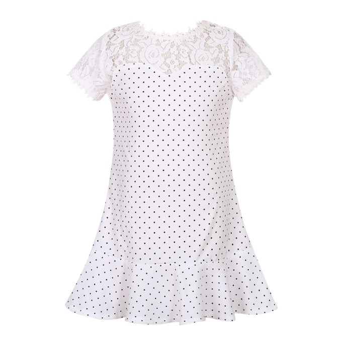 Simple Dress With Bottom Frills