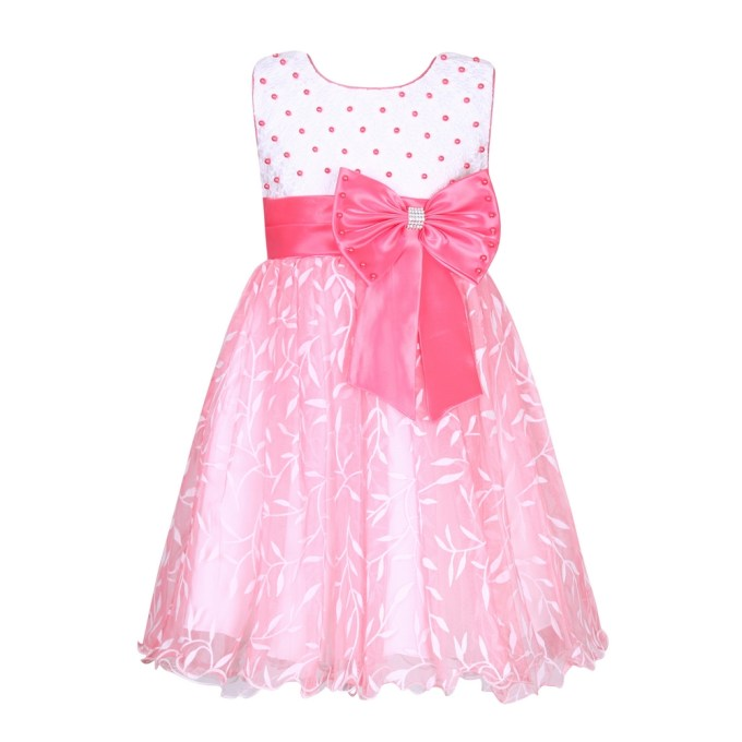 Sweet Party Dress with Big Bow