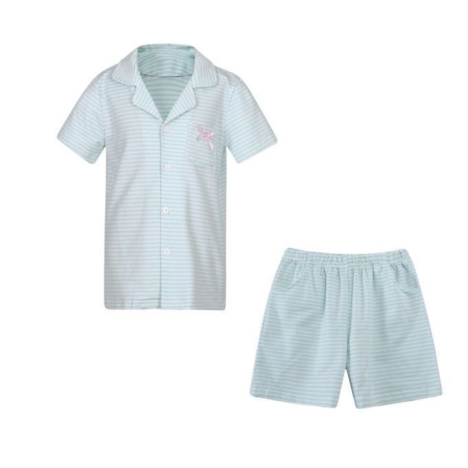 Cotton Striped Sleepwear Pajama Set with Shorts