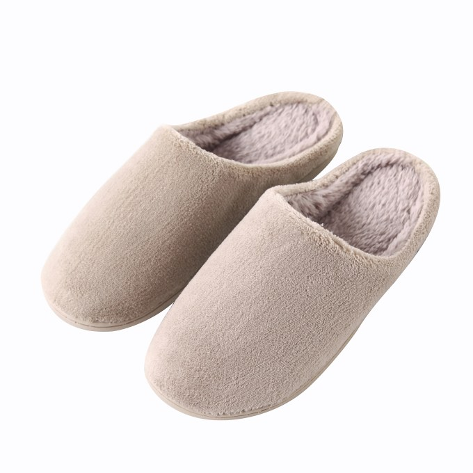 Coral Fleece With Comfort Plush Slippers
