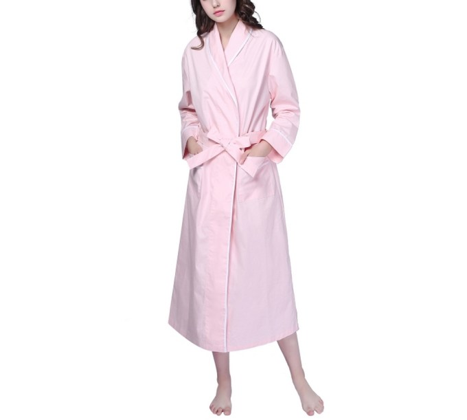 Cotton Sleepwear Pajama Bathrobe