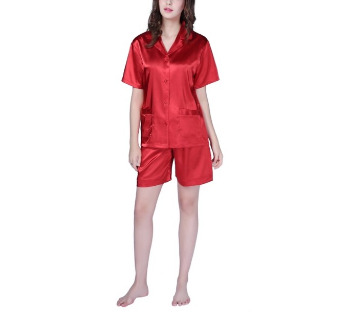Satin Sleepwear Set with Shorts