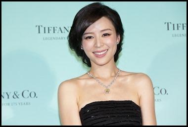 Zhang Jingchu wears Tiffany