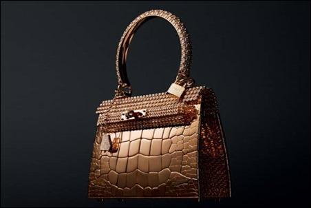 Hermes Rose Gold Crocodile Bag