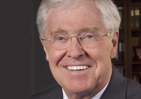 Charles Koch got rich after working hard