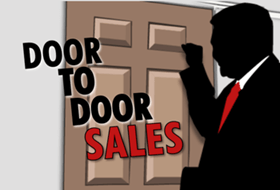 Door-To-Door Salesman most irritating job