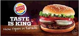 Burger King best Pakistani cafe to celebrate ocassions