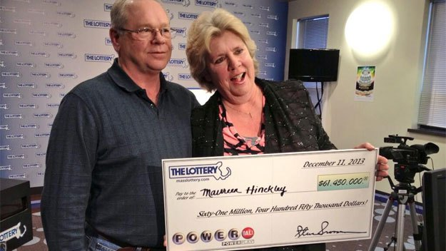 Maureen and Stephen hinckley  Powerball Jackpot in US