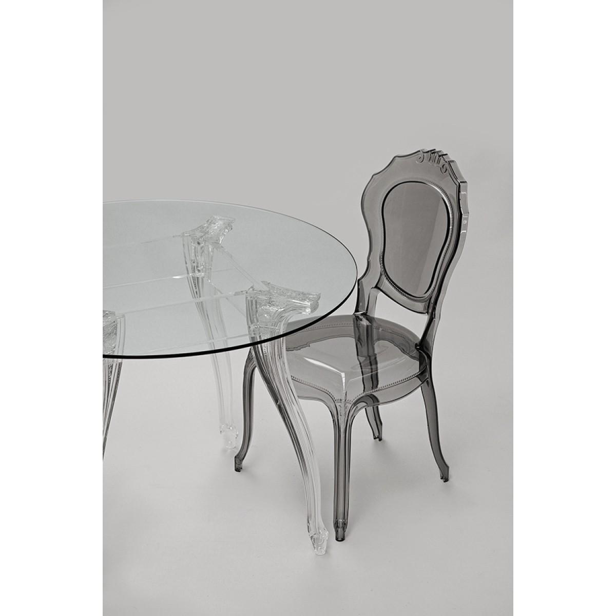 Tisch rund Glas und Policarbonat Esstisch rund Barock