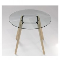 Tisch rund Glas-Tischplatte, Esstisch rund Glas, Tisch ...