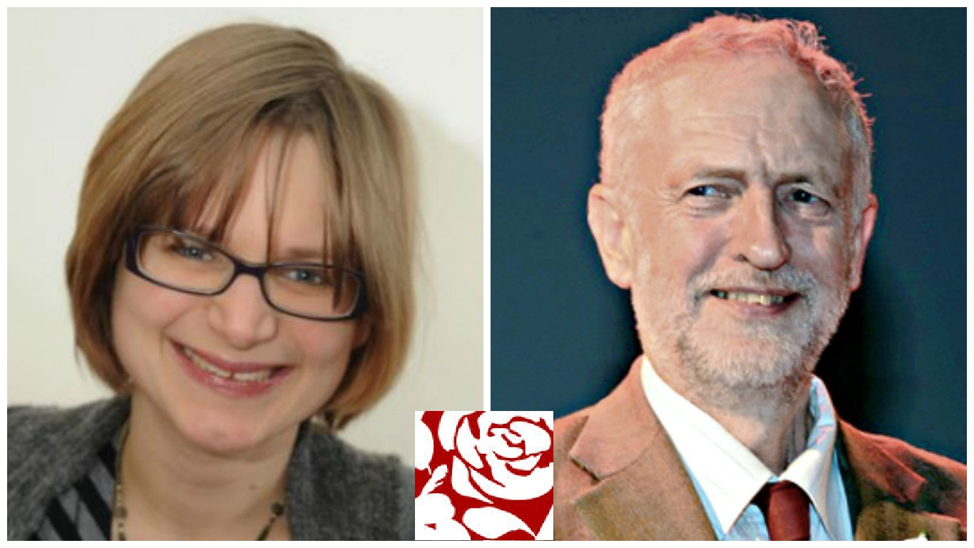 Richmond Councillor Jennifer Churchill and Labour leader Jeremy Corbyn