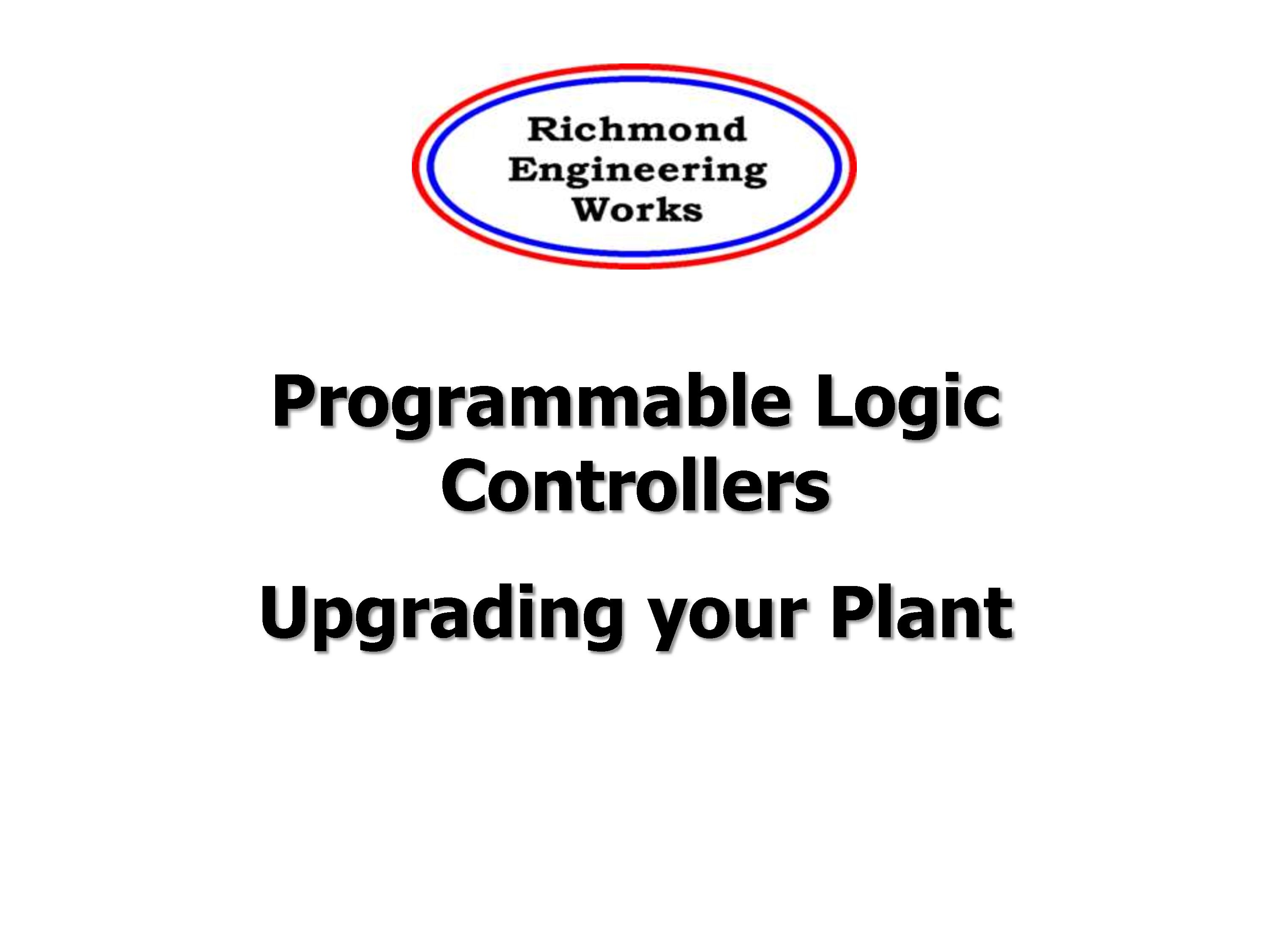 Richmond Engineering: Upgrading Your Plant with PLC Brochure
