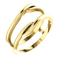 14kt Yellow Gold Ring Guard Engagement Wedding Ring ...