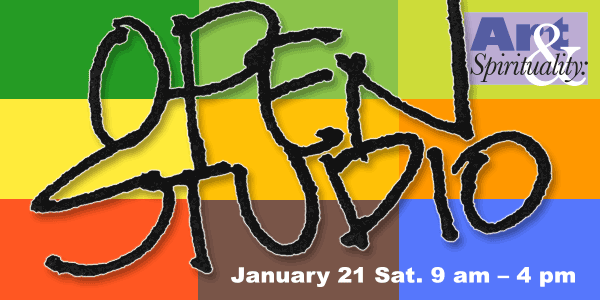Open Studio Saturday, Jan. 21, 9 am – 4 pm
