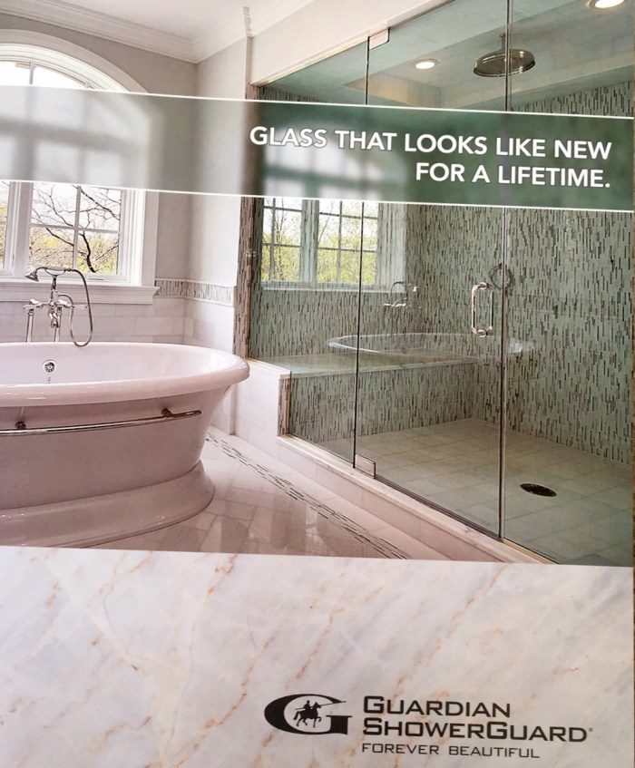 ShowerGuard Glass has a limited lifetime warrant to keep the glass clean.