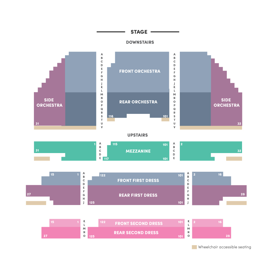 hight resolution of carpenter theatre seating chart