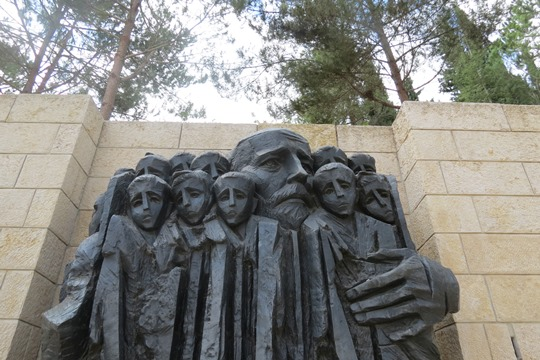 Janus Korczak Memorial at Yad Vashem, Israel