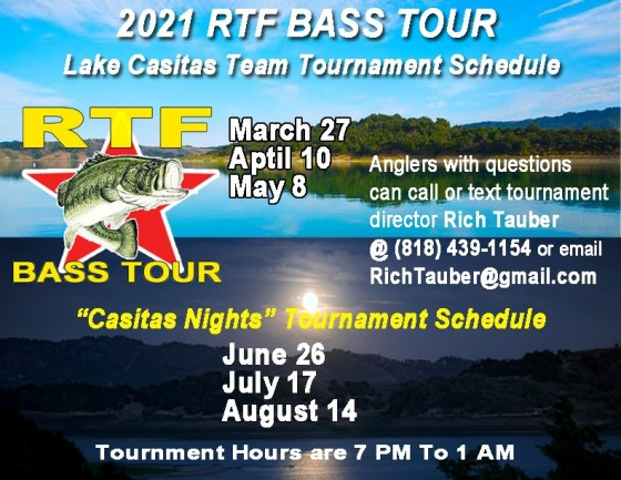 2021 RTF Bass Tour Schedule