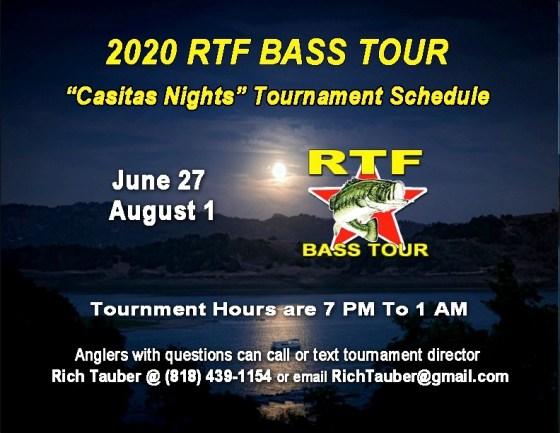 RTF Bass Tour Casitas Nights 6-27-2020