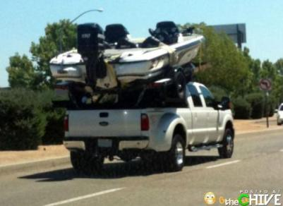 We'll figure out how to get it down when we get tot he lake!