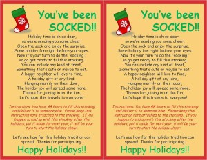 Socking with a Stocking Generic Holiday Version