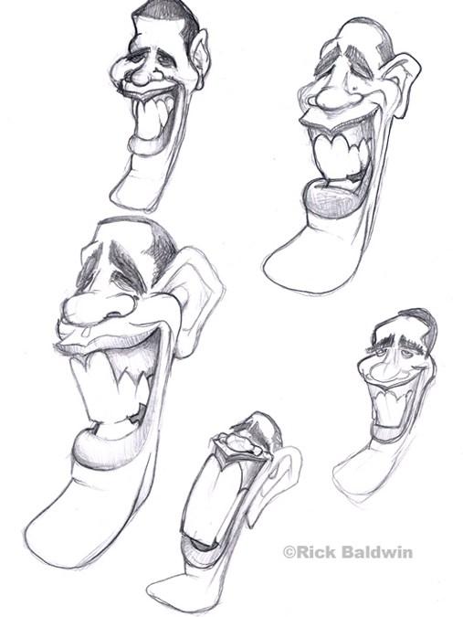 Obama Caricatures