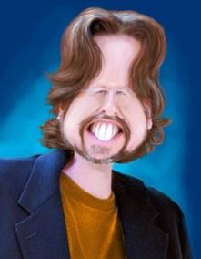 Caricature of Rick Baldwin by Rick Baldwin