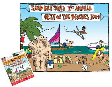 Sand Key Sun Cover Illustration 2005-01-16