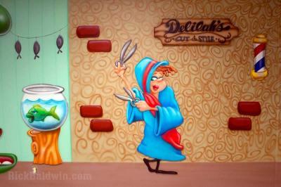 cartoon Delilah mural