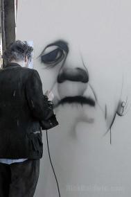 Frankenstein's monster mural painting