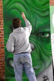 The Grinch mural painting