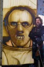 Hannibal mural with Rick Baldwin