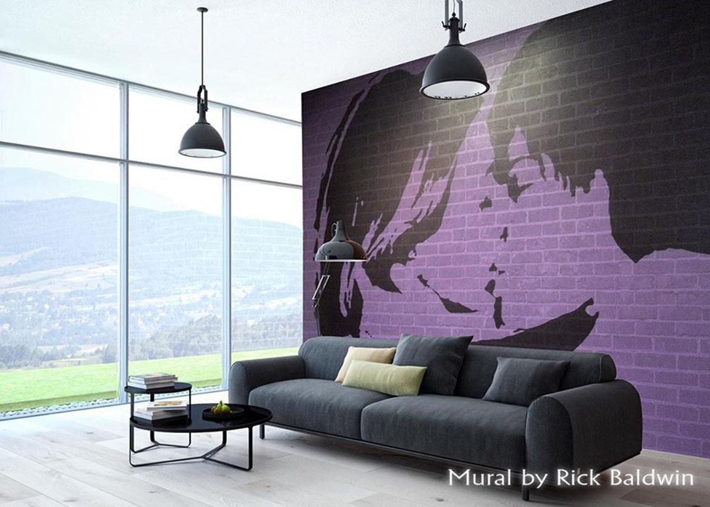 Interior Mural by Atlanta Muralist Rick Baldwin