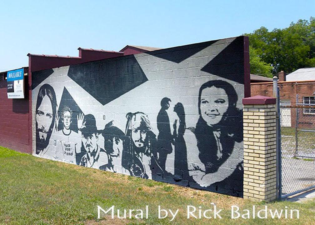 Movie Mural by Atlanta Muralist Rick Baldwin