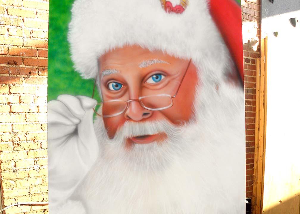 Christmas Mural by Atlanta Muralist Rick Baldwin