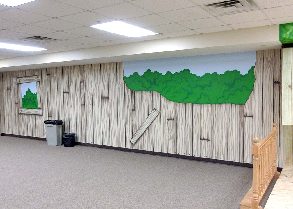 Tree House Mural by Atlanta Muralist Rick Baldwin