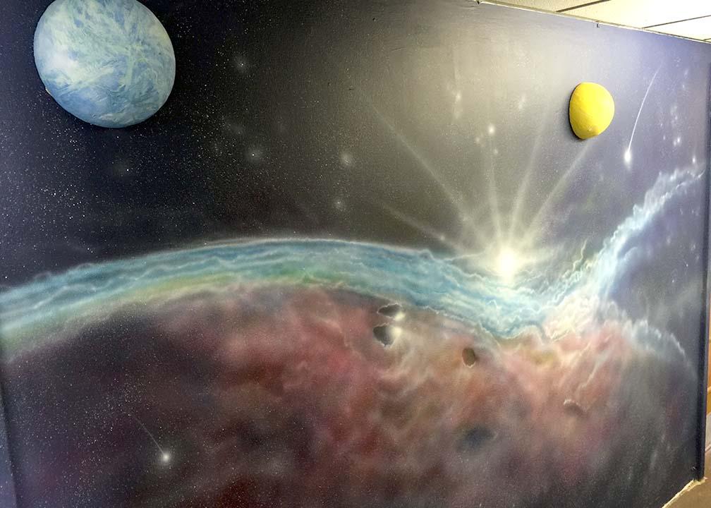 Space Mural by Atlanta Mural Artist Rick Baldwin