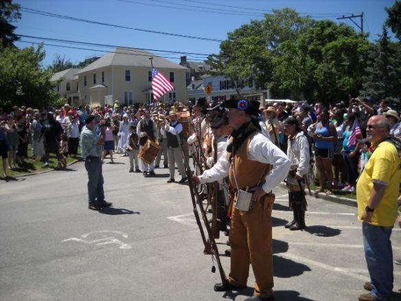 The Wareham Minutemen stand their ground.