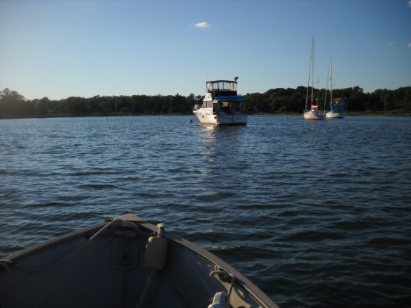 Safely moored at the very end of Bristol Harbor, RI.