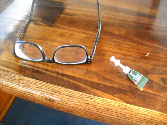 I did an emergency repair of the XO's only pair of glasses.