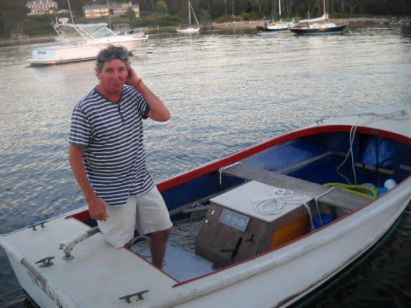 Nice man, nice dinghy.