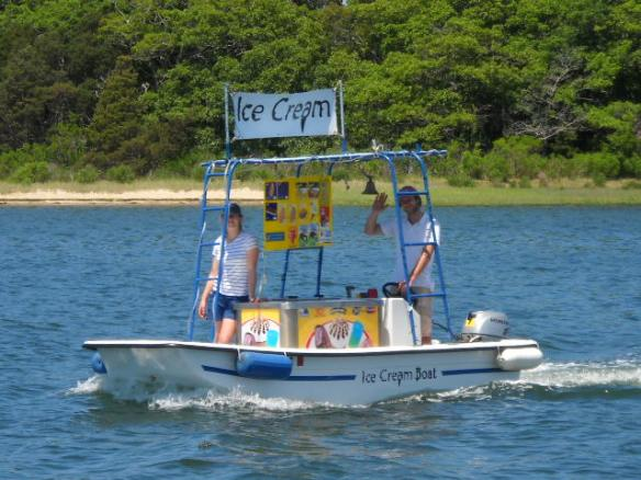 The ice cream boat.