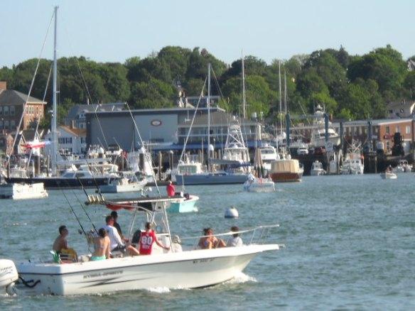 Plymouth Harbor scene.