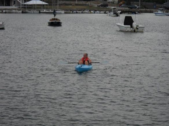 The XO pilots Kayan, her Kayak.