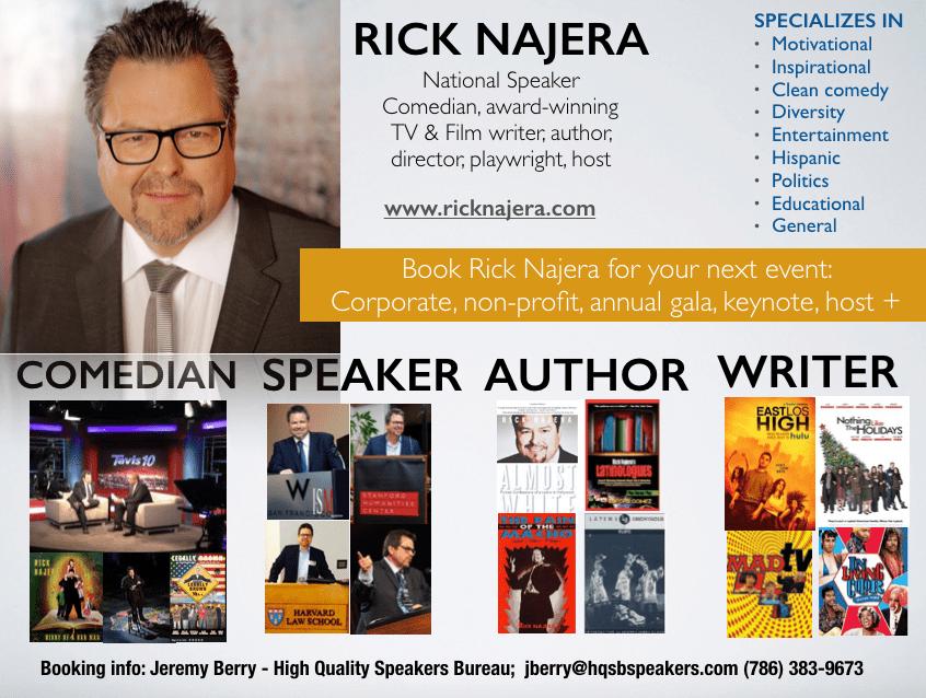 Speaker Rick Najera