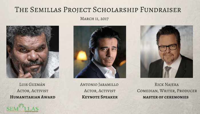 Actors Luis Guzman, Antonio Jaramillo and Rick Najera Initiate 1st Annual Semillas Project