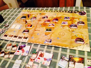 Trying the solo version of Eldritch Horror.
